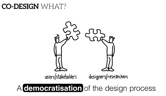 co-design is a democratisation of the design process
